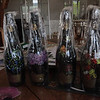 Beautifully painted champagne bottles for Hong Kong market